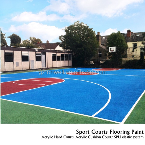 Acrylic hard court outdoor sports surface