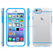 Cell phone cover wholesale transparent back PC+soft TPU mobile phone case for iphone 4.7 inch