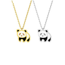 Cute Panda Bear Necklace Jewelry Friendship Gift Stainless Steel Pendant Necklace #pandajewelry