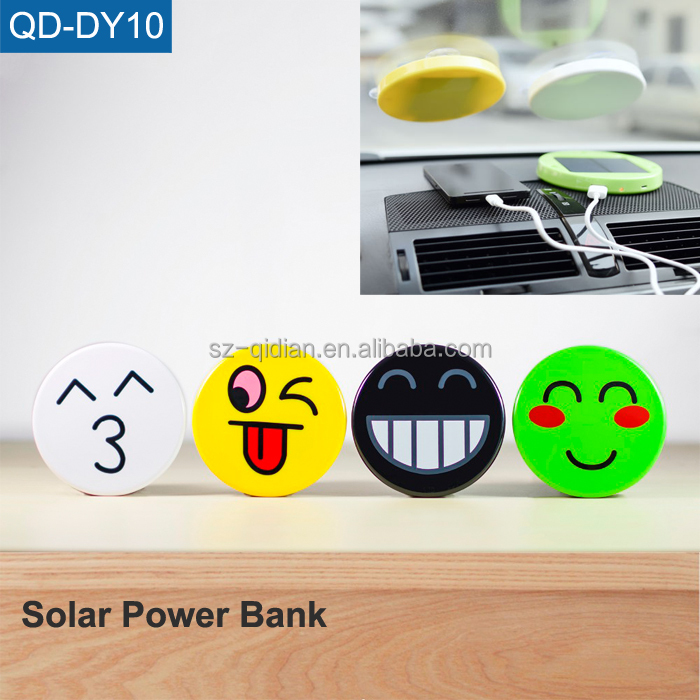 OEM USB Battery Power Bank Charger Sucker Windscreen Portable Solar Power Bank
