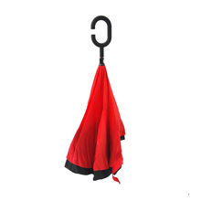 Dual Canopy C handle inside out kazbrella inverted reverse umbrella