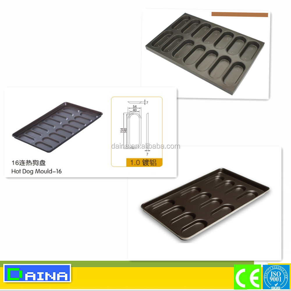 Trade Assurance!! hot dog bun pan/ metal sheet teflon/ bakeware baking tray