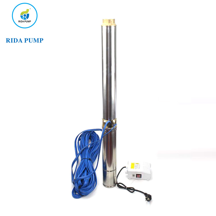 1hp irrigation water 4inch deep well pump Electric AC pump