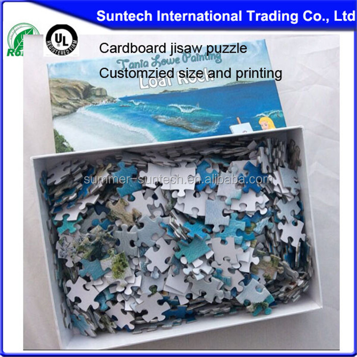 Handmade hotsale adult puzzle cutting die 1000 pieces jigsaw puzzle cutting machine
