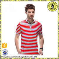 Striped wholesale middle age mens short sleeve polo shirt