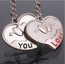 custom made personalized heart shaped keychains