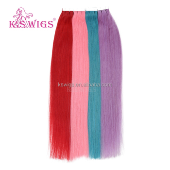 K.S WIGS 2016 Wholesale Deluxe Stunning Color Tape Hair Extensions