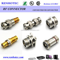 RF dc power adapter coax connector BNC/SMA/ DIN 7/16 connector