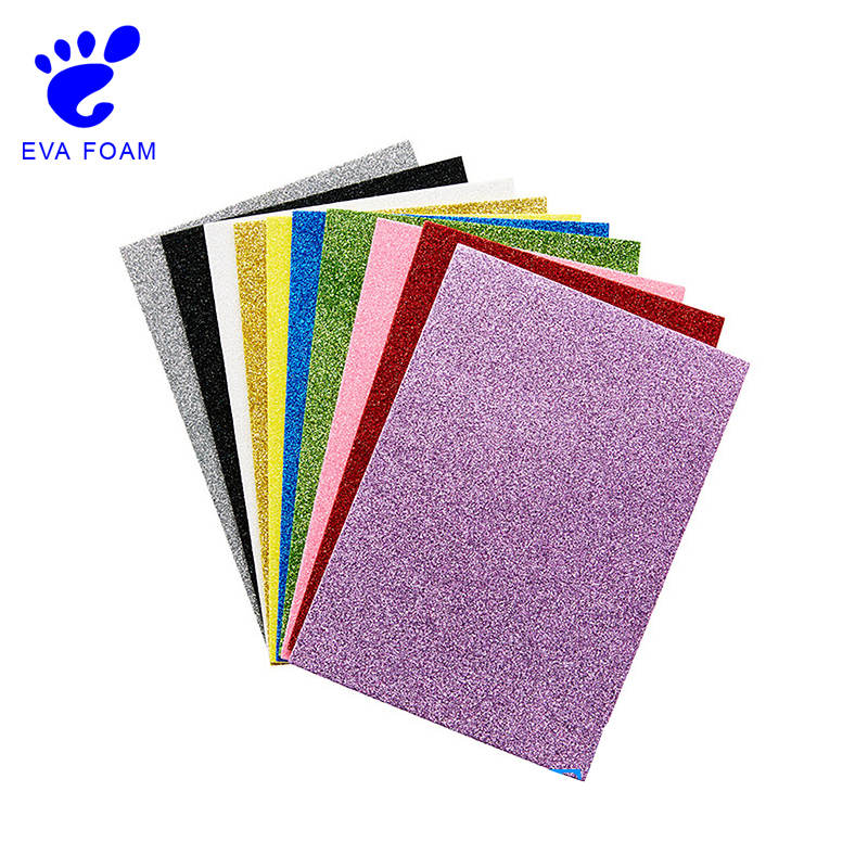 Low price thin glitter crafts EVA foam sheets/foam paper