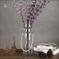 Wenfei price clear glass vase tall cylinder vase
