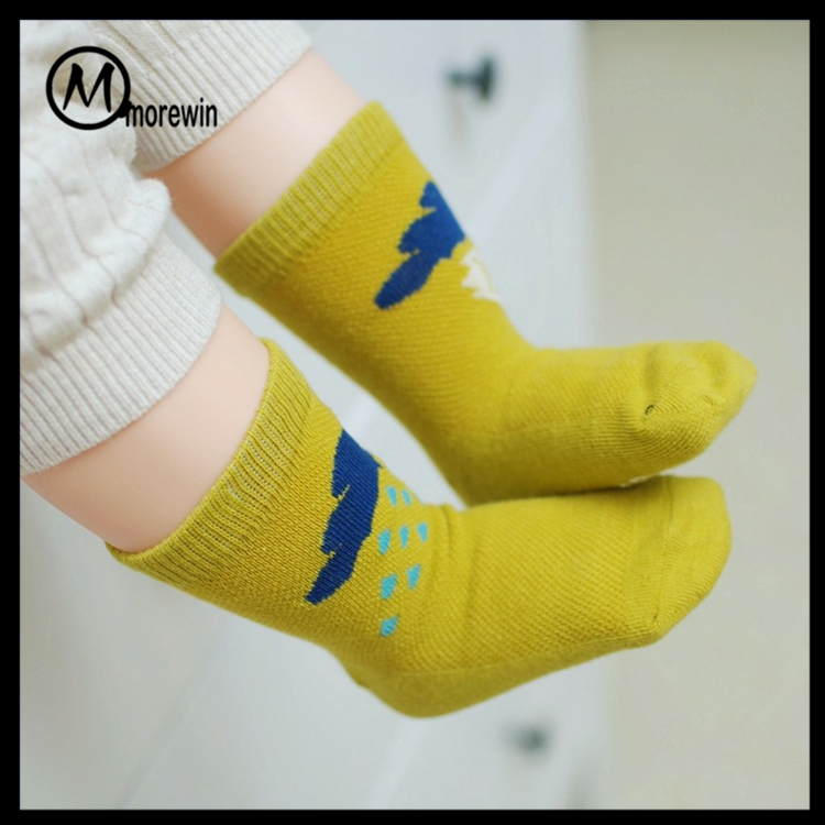 Morewin brand custom bulk kids socks cotton organic baby slip socks
