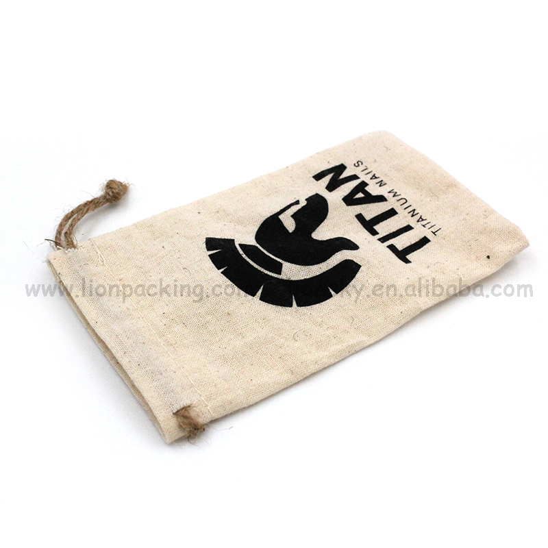 Eco-friendly cosmetic simple gift canvas cotton bag free samples