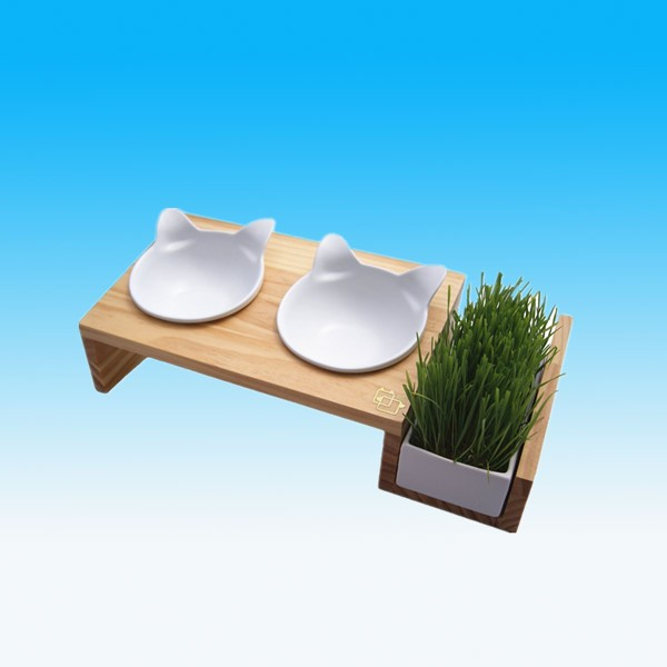 New Design Hotsale Cat Feeder Table Ceramic Pet Bowls