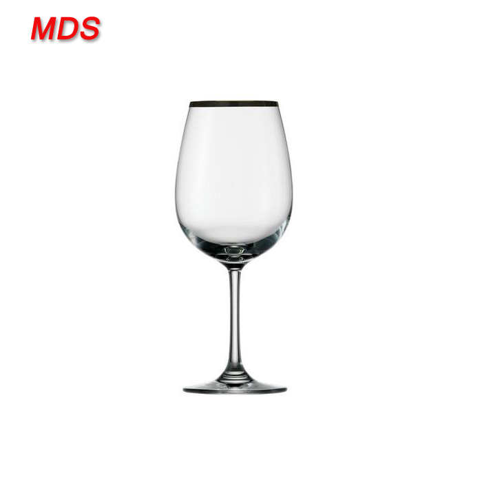 Best selling italian silver rimmed wine glasses