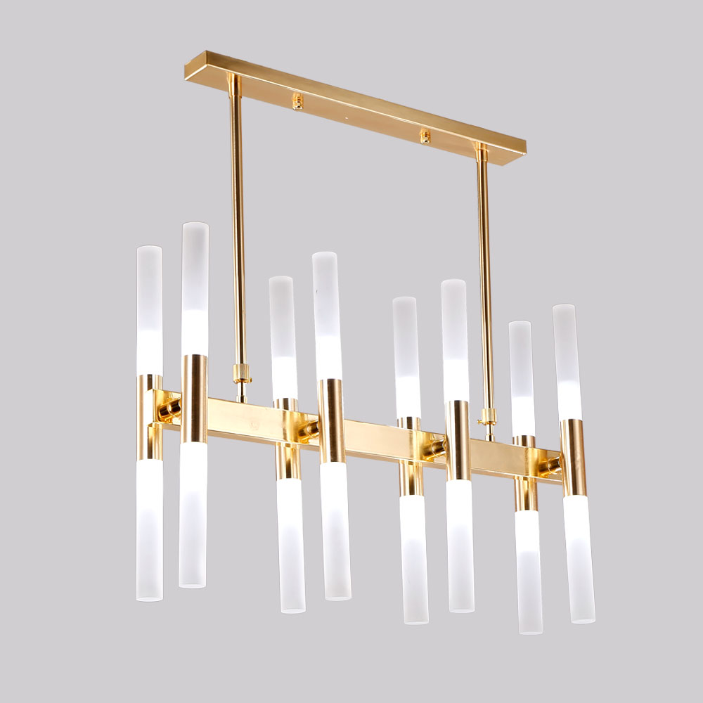 Gold Suspension Metal Wholesale Acrylic Decorative Hanging Iron Nordic Kitchen Modern Lamp Chandelier Led Pendant light
