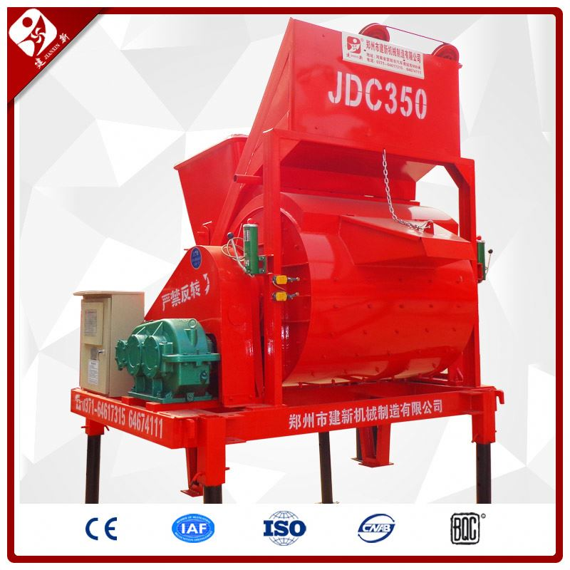 Hot Sale Portable Mini Hydraulic Compulsory Single Horizontal Shaft Cement Concrete Mixer Jdc350 With Lift