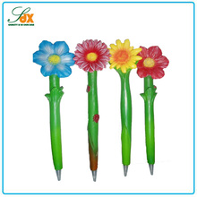 Bottom price custom novelty cute flower shaped resin ballpoint pen