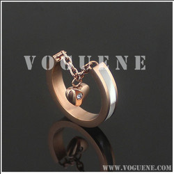 heart pendant epoxy thick good quality 316L stainless steel ring