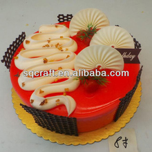 Yiwu factory fake food / High quality artificial cakes / Plastic fruits model