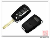 Auto key blank,car key blank,blank key for Toyota 2 button Toy43 [ AS007030 ]