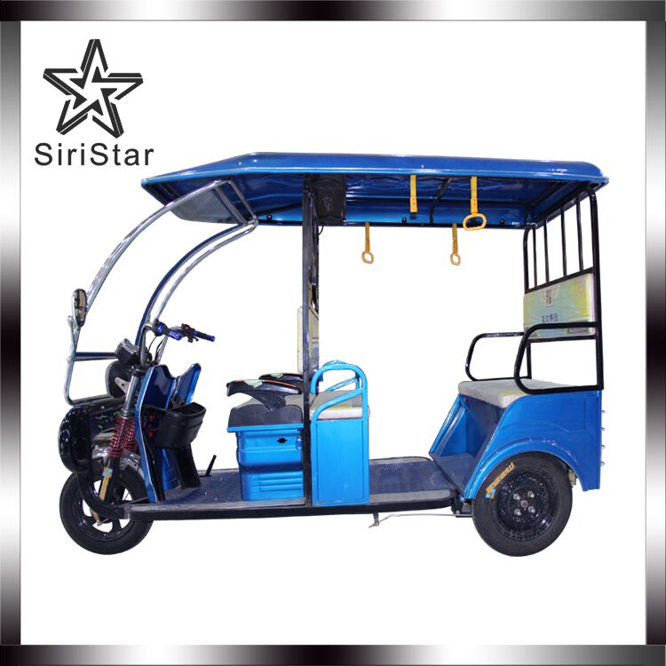 800W electric tricycles rickshaw and tuktuk taxi with passengers