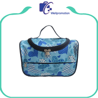 Wholesale canvas cosmetic bag, travel eco beauty custom full printing cosmetic bag makeup
