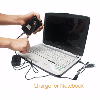 Mini Charger For Mobile Phone Notebook Emergency Backup Hand Generator Universal USB Charging Port Fast Charging