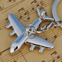 2016 Hot sell high quality zinc alloy keychain key chain US airlines model keychain