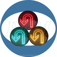turn around led flashing traffic warning