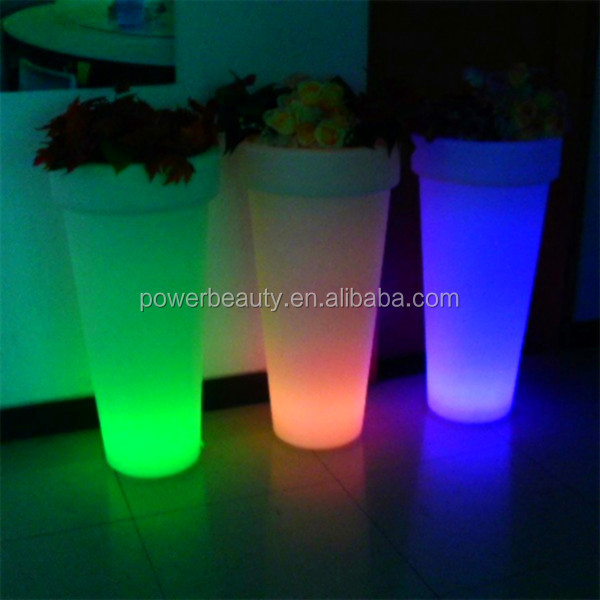 waterproof rechargeable plastic glowing led mini plant with bluetooth speaker