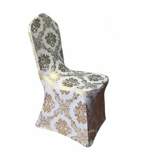 wholesale banquet metallic gold stretch lycra chair cover