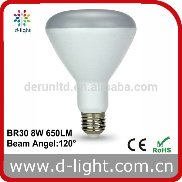 2016 NEW PRODUCT BR30 8W E27 65WE LED BULB WITH CE ROHS ERP buy direct from china factory