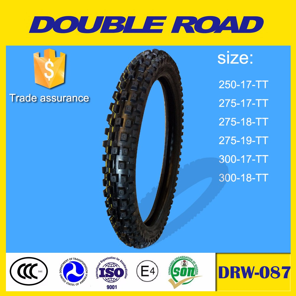 Wholesale chinese double road brand rubber 2.50 x 17 motorcycle tires africa