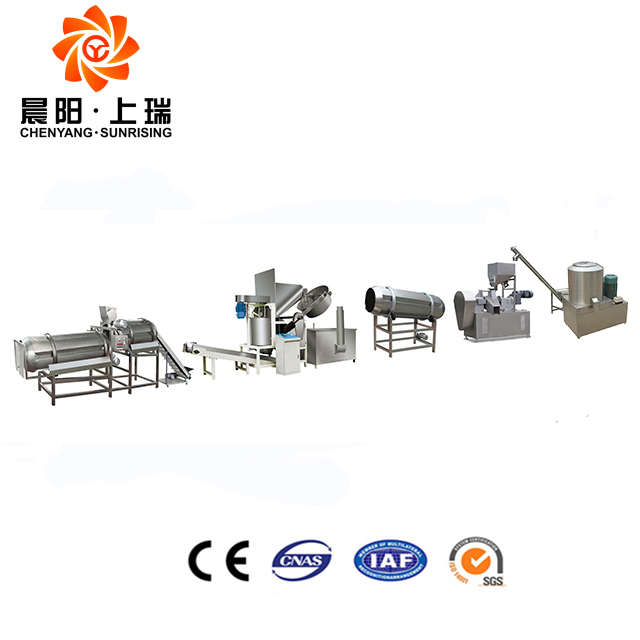 Full automatic starch wheat flour potato crisp making machine