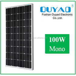 High Efficiency 100W Mono Solar Panel, solar panel price india Manufacturer in China