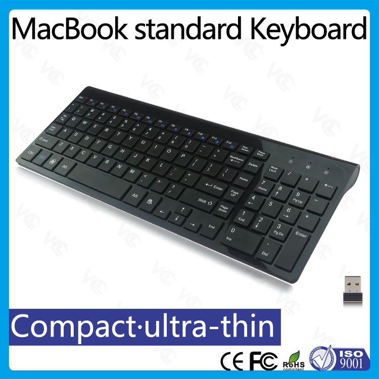 VMK-24 OEM/ODM computer multimedia chocolate Slim wireless flat Keyboard