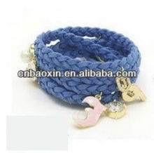 2013 handmade string bracelet with charm