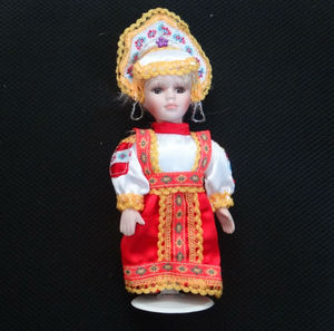 8 inch Customized Ethnic Porcelain Doll