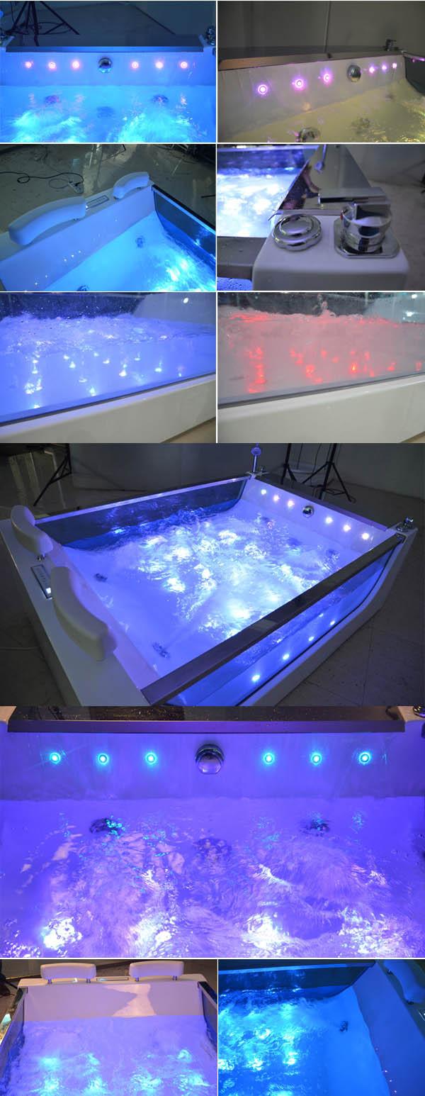HS-B227 acrylic sheet bathtub/ bath bubble massage/ bathtub dimens ...
