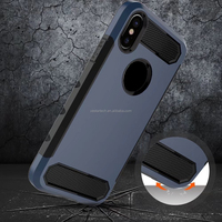[Soft TPU Interior] [Durable PC Exterior] Rugged Holster Cover, Dual Layer Shock Resistant Case for Apple iphone x (iphone 10)