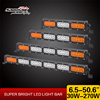 Sanmak New 33 inch 180w Offroad Jeep Auto Amber Strobe Bar Light Double Row LED Emergency Light Bar for Car
