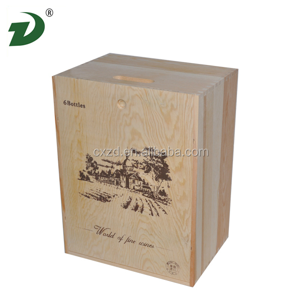 2014 Cheap wine barrel furniture wooden wine box