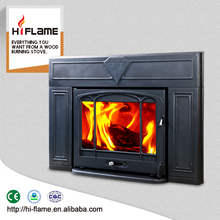 HiFlame cheap high efficiency indoor cast iron wood burning inserts fireplace