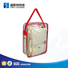 plastic clear PVC quilt bag/wire frame comforter bag