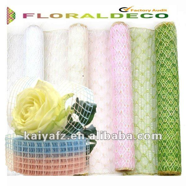 "21""x10y Beautiful PP Mesh Decorating Ribbon For Christmas"