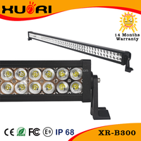 300w 100*3w 52inch Epistar Curved Combo Led Light Bar 21000lm Waterproof Offroad Combo White Combo Beam Curved Light Bar 44 Comb