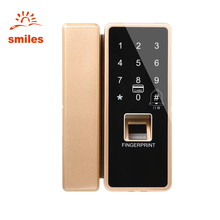Supplier Smart Biometric Fingerprint Glass Door lock With Password, RFID Card
