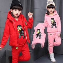 Wholesale Bangkok Manufactures Children Clothes Girls 3 Piece Winter Sets