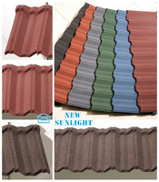Non-cracking Colorful Stone Coated Metal Roofing Slate,Roofing Tile,Building Material