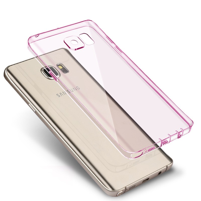 Shockproof silicone protective clear case cover for samsung galaxy s7 edge case